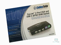 Cables To Go 35554 Trulink 2-port Vga/usb And Ps/2 Kvm Switch With Cables