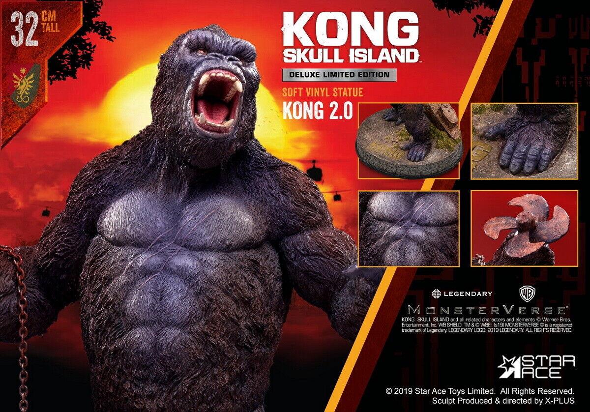 32cm Estrella Ace Juguetes Kull Isla King Kong 2.0 SA9005 Modelo estatua Coleccionable