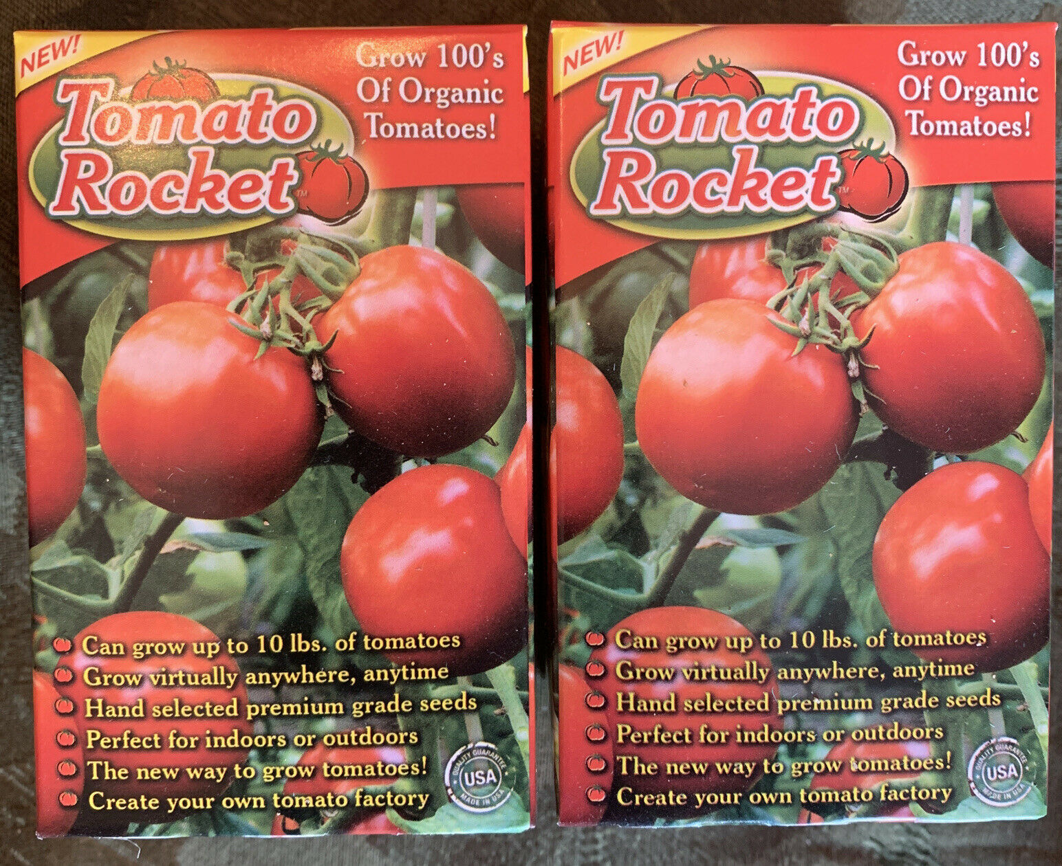 2 Pack Tomato Rocket As Seen On TV, Grow Organic Tomatoes