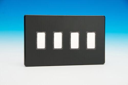 Varilight Eclique 2 4-Gang tactile touch control gradation Interrupteur de lumière esclave pour