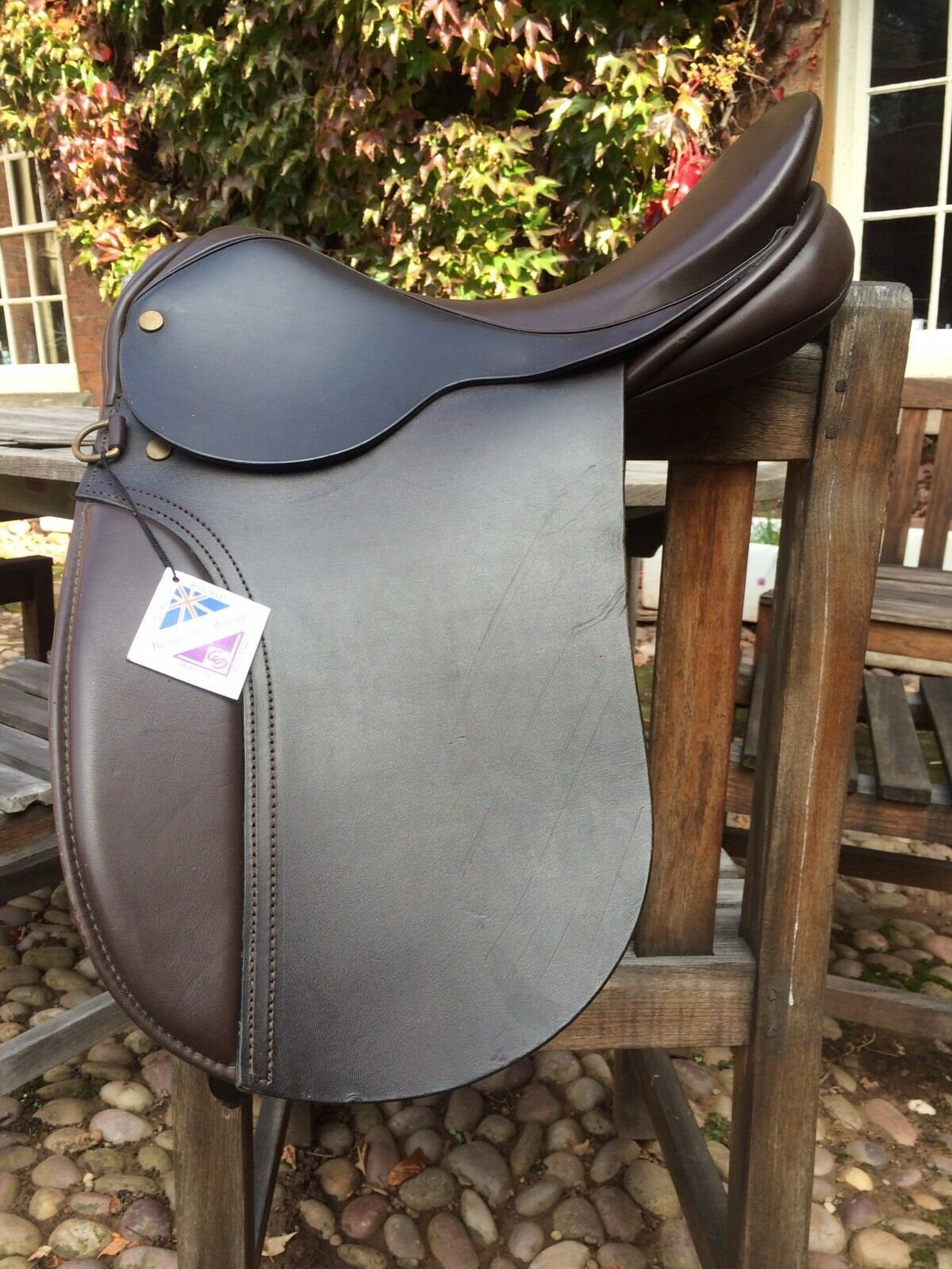WHP Dressage Saddle 15 Walsall made brown english leather - never used. Pony