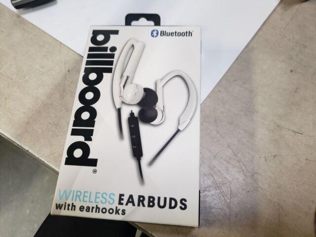 a3e818157da BILLBOARD BLUETOOTH WIRELESS EARBUDS WITH EARHOOKS MUSIC OR PHONE 33 FT  RANGE