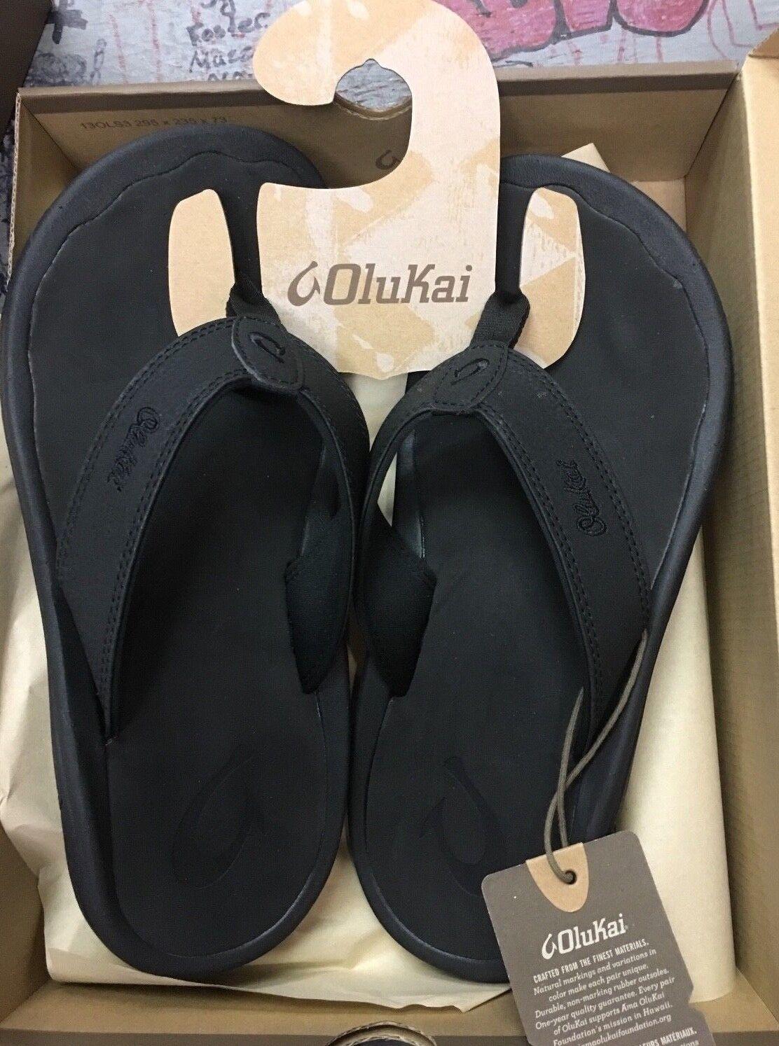 OLUKAI 'OHANA BLACK  BLACK 10110A-4040 OC MENS FLIP FLOPS FLOPS FLOPS MENS 9 d7f55f