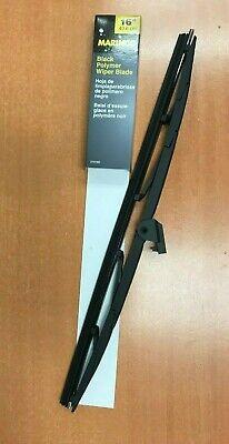 """Marinco AFI 31016B 16/"""" Black Polymer Wiper Blade"""
