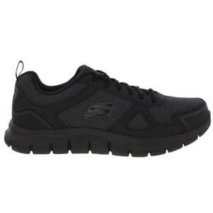 c0c0f294bde0a Skechers Track Bucolo Mens Wide Fit Black Memory Foam Trainers Shoes ...