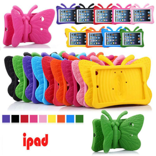 Kid Butterfly Shockproof Stand Safe Rubber Cover Case For iPad Mini 1 2 3 4 7.9