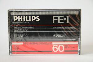 Philips-FE-1-60-Audiokassette-Cassette-Tape-60min-OVP-Jahrgang-1984