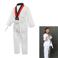 Lightweight Kid Adult Karate Taekwondo Basic Uniform Dan Dobok Mooto Wtf Suits
