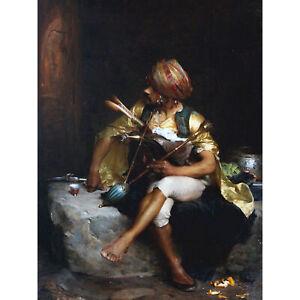 Bargue-Bashi-bazouk-Soldier-Ottoman-Empire-Painting-Large-Canvas-Art-Print
