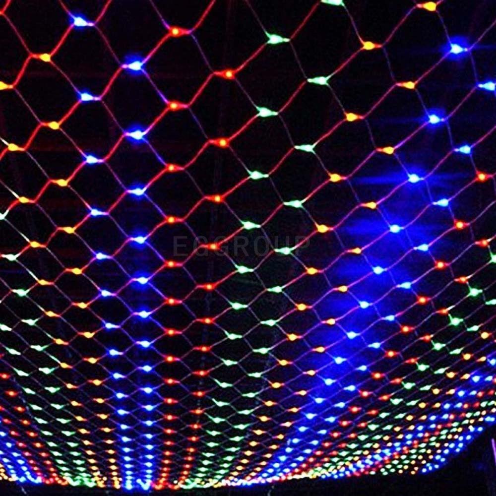 Multi-Color de LED Cortina Malla rojo Cadena Hada Luz Boda Lámpara De Decoración árbol De Navidad