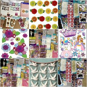 Huge-Lot-Of-40-Packages-Scrap-Booking-Stickers-Forever-in-Time-Sticko-Jolee-039-s