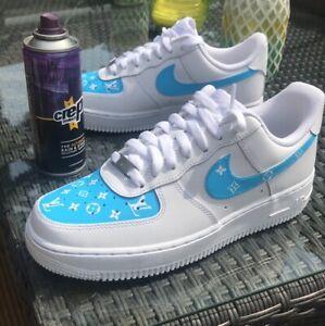 Nike Air Force 1 Carolina Custom Size 7 5 Mens Size 9 Womens Ebay