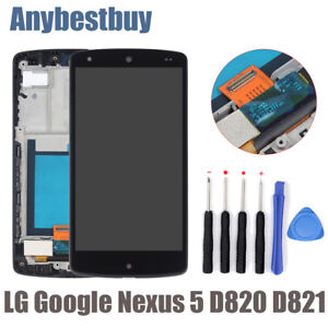 LCD-Touch-Display-For-LG-Google-Nexus-5-D820-D821-Frame-Screen-Digitizer-Replace