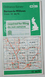1984 OS Ordnance Survey 1:25000 Pathfinder map Barton-le-Willows SE 66/76