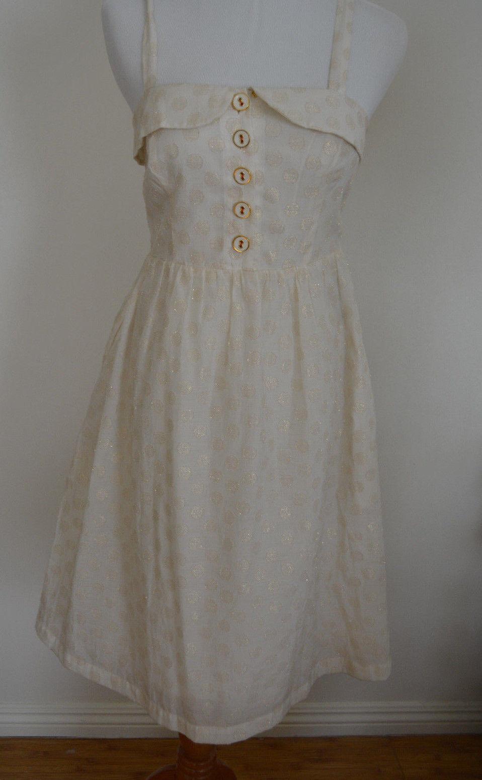 4 Anthropologie Anthropologie Anthropologie golden Dot  In A Twinkling Dress  575b5d
