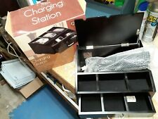 Wood Charging Station Desk Organizer With 6 Outlet Power Strip Amp Storage Drawer