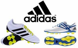 cheap for discount e5057 fcaaf Caricamento dell immagine in corso NUOVO-Adidas-Bianco-messi-Goletto-Da-Uomo -Firm-