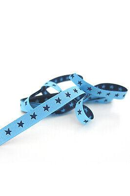 Webband Sterne Sternchenband Farbenmix Bordüre Borte 7 mm beidseitig verwendbar