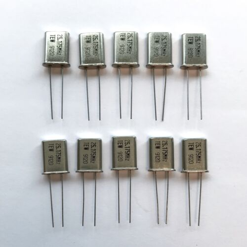HC-49U Package Tokyo Denpa CO 25.175 MHz Crystal TEW LTD. PKG of 10