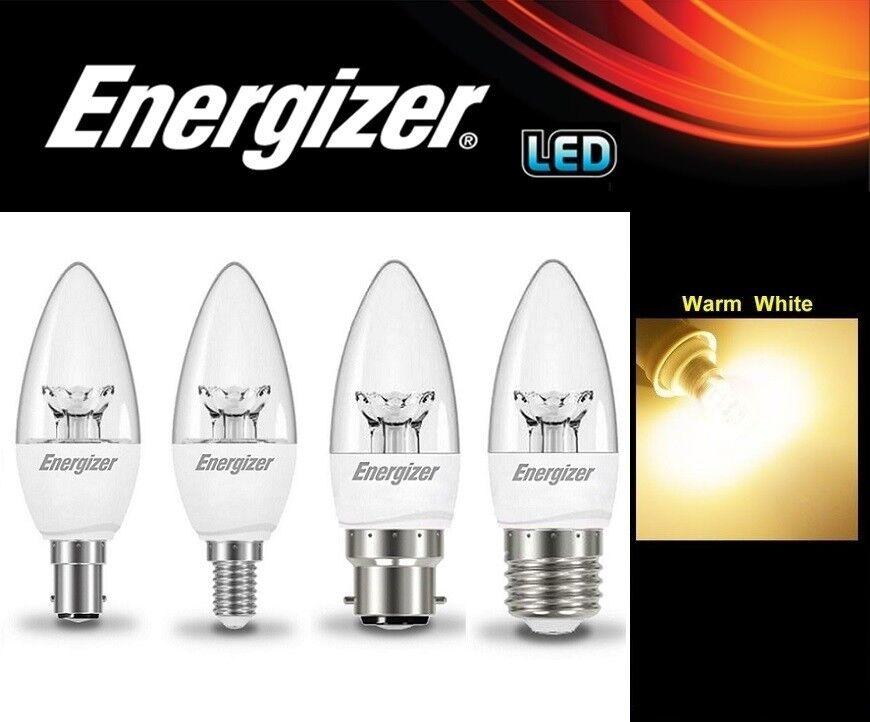 1 2 4 6 10x Energizer Candela LED 6.2 W Lampade Lampadina Bianco Caldo Regolabile