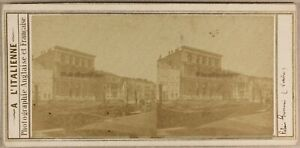 Italia-Palazzo-Grimani-Ca-1858-Foto-Stereo-Vintage-Albumina