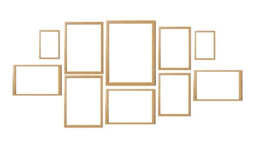 Oak 10 Piece Multi Picture Photo Frame Collage Frames Aperture Wall ...