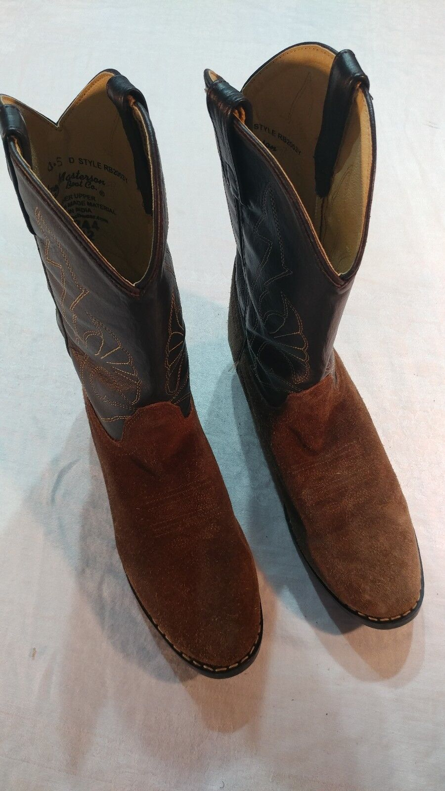 MASTERSON BOOT CO Brown Leather Western Style Boots Size 4.5 D Womens