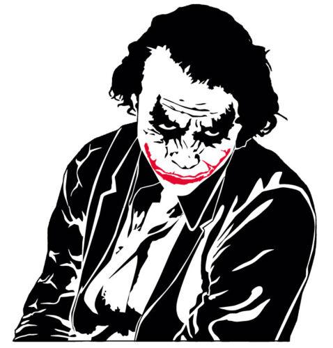 "Dark Knight 22.5x26/"" VINYL DECAL Sticker Funny JOKER Batman Comic window bumper"