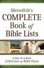 Meredith's Complete Book of Bible Lists: A One-of-a-Kind Collection of Bible Facts by J.L. Meredith (Paperback, 2009)