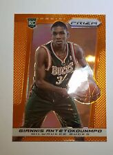 2013-14 PANINI PRIZM GIANNIS ANTETOKOUNMPO ORANGE PRIZM #/60 Mint