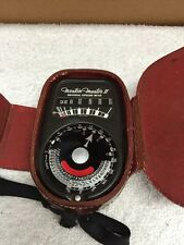 Vintage Weston Master ll Universal Exposure Meter With Leather Case