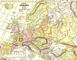 Details about CRAM'S ATLAS MAP PAGE PLATE OF EUROPE A.D. 1200 & EUROPE on online atlas of europe, climate map of europe, atlas asia map, atlas europe with capitals, world map europe, large map of europe, map of western europe, 1660 map of europe, rivers of europe, political map of europe, map of southern europe, detailed map of europe, 1872 map of europe, current atlas of europe, view of europe, current map europe, gerardus mercator map of europe, aerial map of europe, attractions of europe,