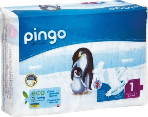 108 St Pingo BIO Windeln NewBorn Größe 1 4x Beutel Karton Einwegwindel 2-5 kg