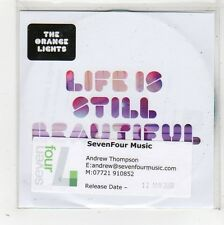 (FW643) The Orange Lights, Life Is Still Beautiful - 2009 DJ CD