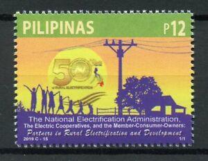Filippine-2019-Gomma-integra-non-linguellato-NAZIONALE-ELETTRIFICAZIONE-Amministrazione-1v-Set