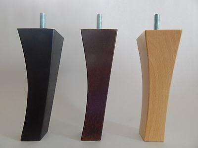 4 X Mobili In Legno Piedi / Zampe Per Divano, Sedie, Sgabelli, Petto-m8-mostra Il Titolo Originale Lussuoso Nel Design