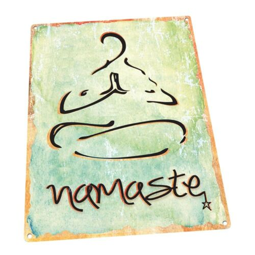 Namaste Metal Sign; Wall Decor for Office or Meeting Room