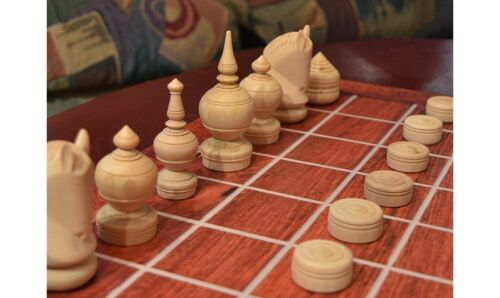OUK or OK CHATRANG, THAI MAKRUK M14 dark K=3½ TRADITIONAL CAMBODIAN CHESS