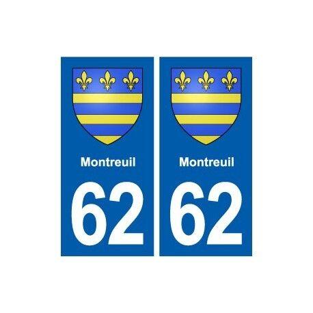62 Montreuil blason autocollant plaque stickers ville arrondis