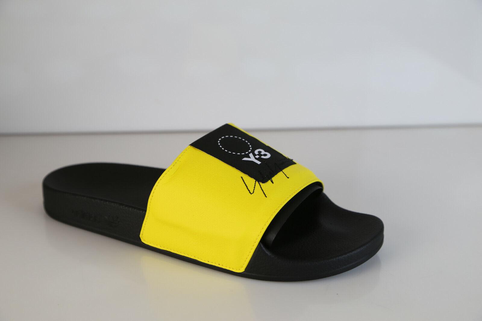 3237ff9525c523 Adidas Y-3 Yohji Yamamoto Adilette Slide Yellow Black Sandal BC0912 8-11
