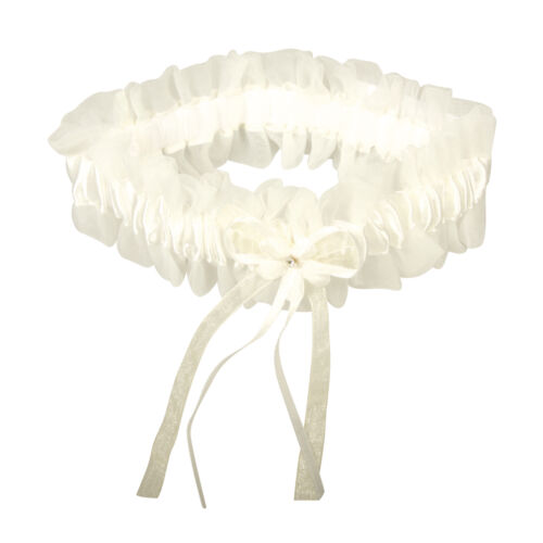1 Strumpfband weiß oder creme Hochzeit Spitze Brautschmuck Braut NEU