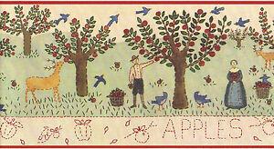 Apple Orchard Apples Farm Country Vintage Primitive Folk ...