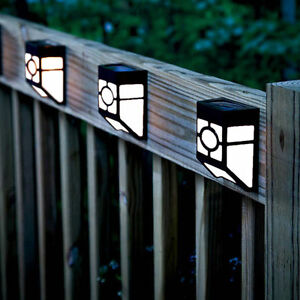 Solar Powered Wall Mount LED Light Outdoor Garden Landscape Fence Lamp Decor  eBay