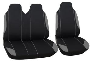 Graue Sitzbezüge für FORD TRANSIT Autositzbezug grau SET 1+2