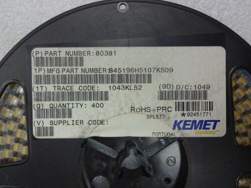25x Kemet T491X107K025AT Tantalum Capacitors 100uF 25V  Size X 25pcs