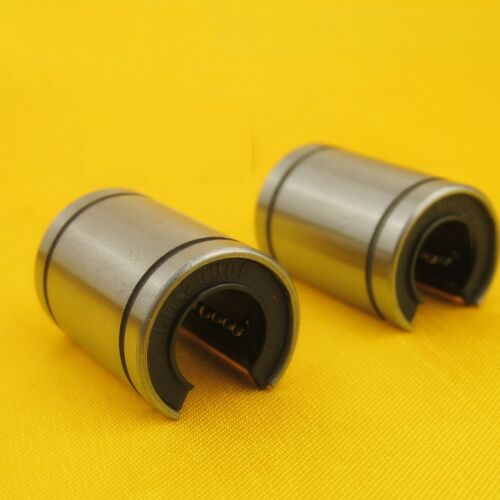 2Pcs Precision LM12UU-OP OPEN Linear Motion Bushing Ball Bearing 12*21*30mm