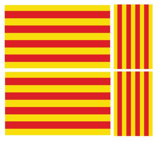 4 X CATALONIAN FLAG VINYL CAR VAN IPAD LAPTOP STICKER FRANCE