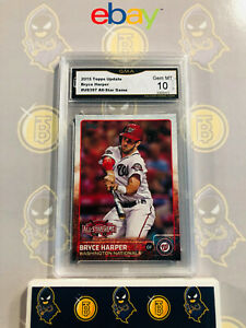 2015-Topps-Update-Bryce-Harper-US397-All-Star-Game-10-GEM-MINT-GMA-Graded-Card