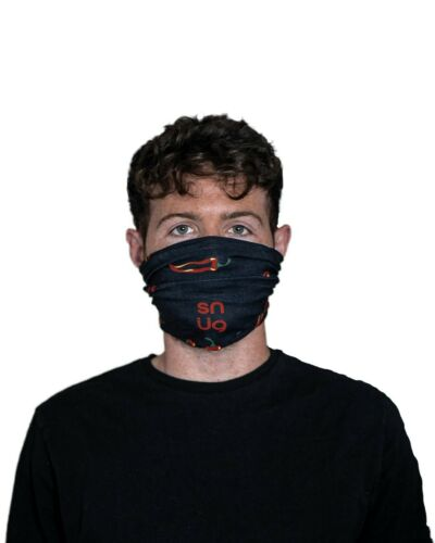 Face Masks Bandanna Neck Tube Buff Headband White Dinosaur Design