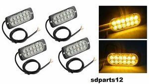 4x-Feux-de-Penetration-12-LED-Lumiere-Stroboscopique-18-Modes-Auto-Camions-SUV